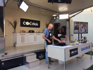 Show Cooking de Julius en set de Canal Cocina