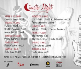 Programación de Cimata Night